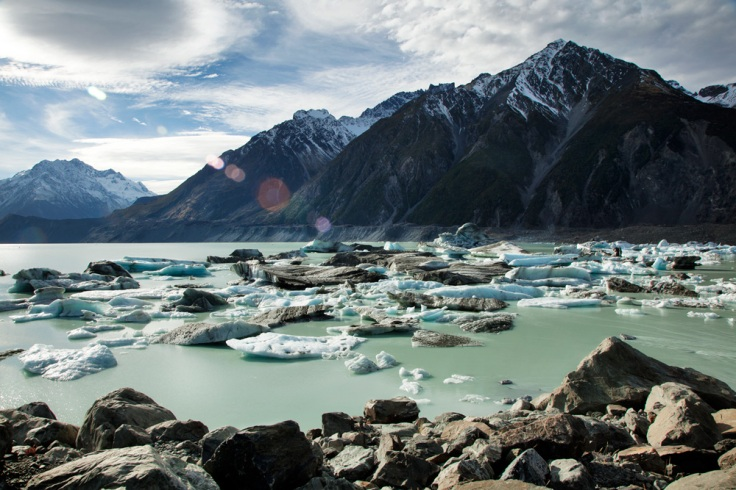 Ice in the Tasman Glacier lake.